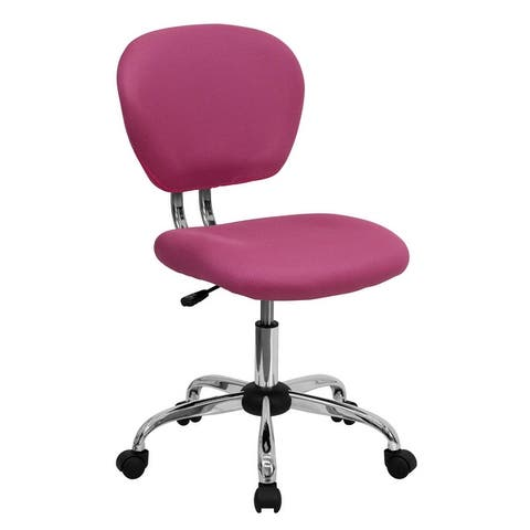 Mid-Back Mesh Padded Swivel Task Office Chair with Chrome Base