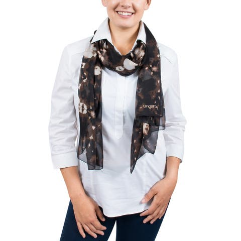 Ungaro UN7018 S7789 Tie Dye Print Brown Silk Scarf - 71-27