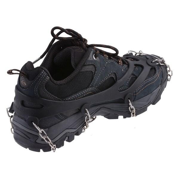 AGPtEK Ice Snow Grip Shoe Chains Anti Slip Overshoes Snow Shoes Crampons Cleats Size L