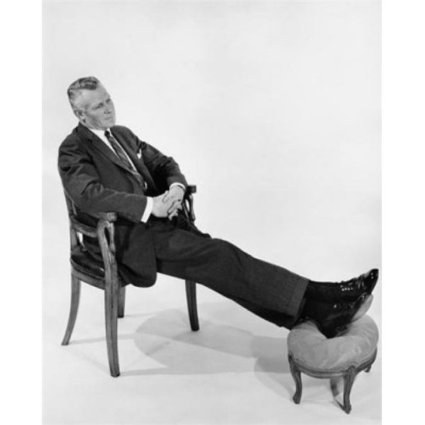 Posterazzi Businessman Relaxing In Chair Poster Print 18 X 24 Free Shipping Today 22765682