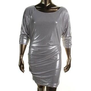 Rachel Rachel Roy Womens Guest List Shimmer Gathered Party Dress