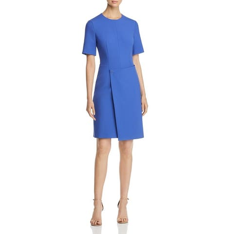 BOSS Hugo Boss Womens Disula Sheath Dress Ponte Short Sleeve