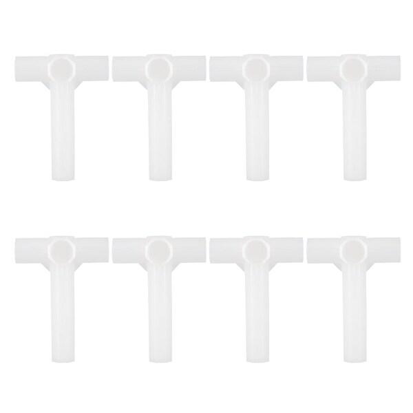Shoe Rack Connector Parts, 13mm Inner Diameter for Repair Wardrobe 4 Way 8 Pcs