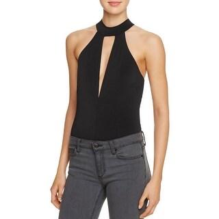 Bardot Womens Kendall Bodysuit Cut-Out Sleeveless