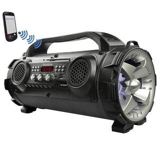 Boytone BT-50GR Portable Bluetooth Speaker, Indoor/Outdoor 2.1 Hi-Fi Cylinder Loud Sound Built-in 2 x 5 Subwoofer, 2 x 2 Tweeter