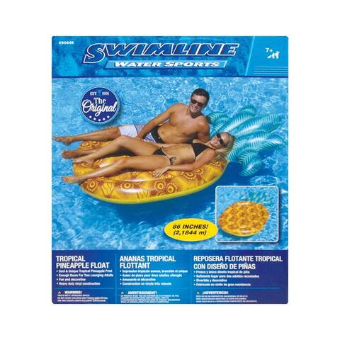 Swimline 90649 Pineapple Float, Vinyl, Yellow