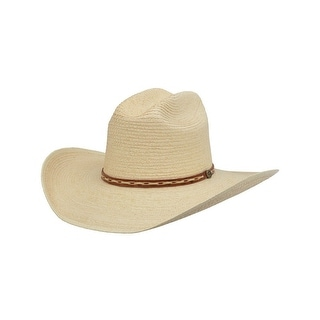 Alamo Cowboy Hat Guatemala Rancher Crown Natural 28200