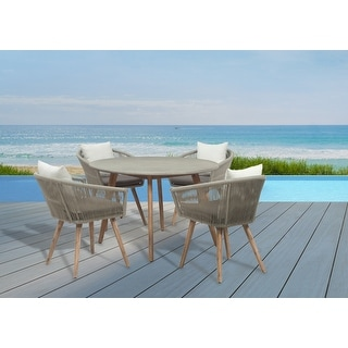 Link to GreyPoint Furnishings - Herman 5 Piece Dining Set with Cushions Similar Items in Patio Furniture