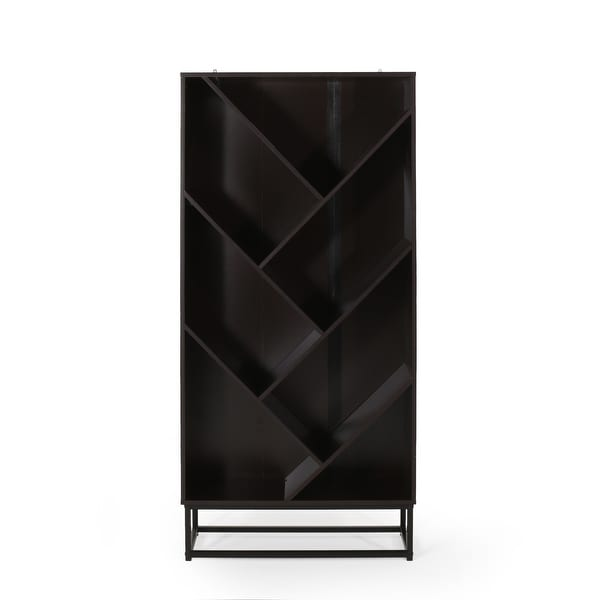 """Bucy Modern Industrial 6 Shelf V Bookcase by Christopher Knight Home - 31.50"""" L x 13.00"""" W x 65.00"""" H. Opens flyout."""