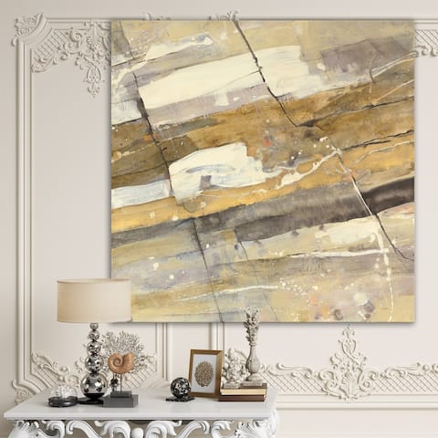 Designart 'Fire and Ice Minerals V' Modern & Contemporary Gallery-wrapped Canvas
