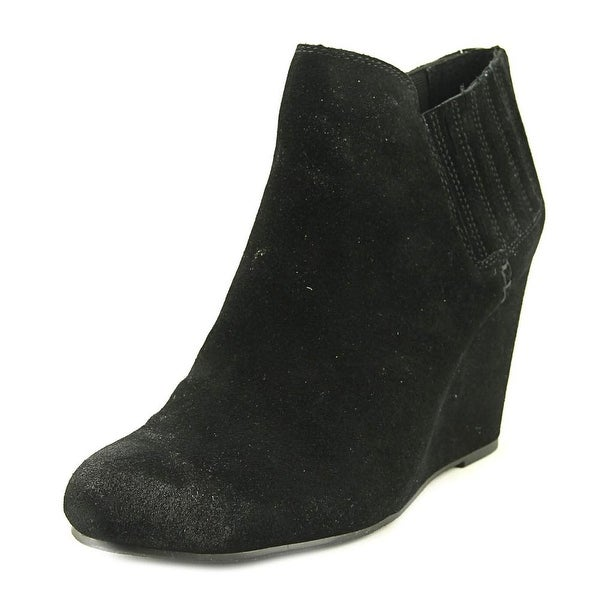 Dolce Vita Gwynn Women Round Toe Suede Black Ankle Boot