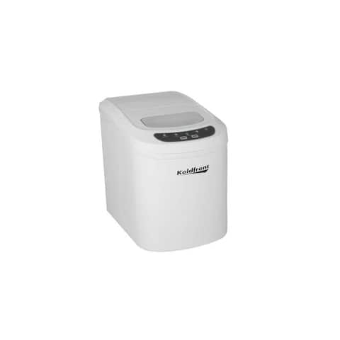 "Koldfront KIM202 10"" Wide 1.5 Lbs. Capacity Portable Ice Maker with 26 Lbs. Daily Ice Production - White"