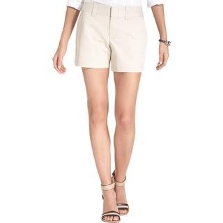 Tommy Hilfiger Womens Khaki, Chino Shorts Cotton Casual