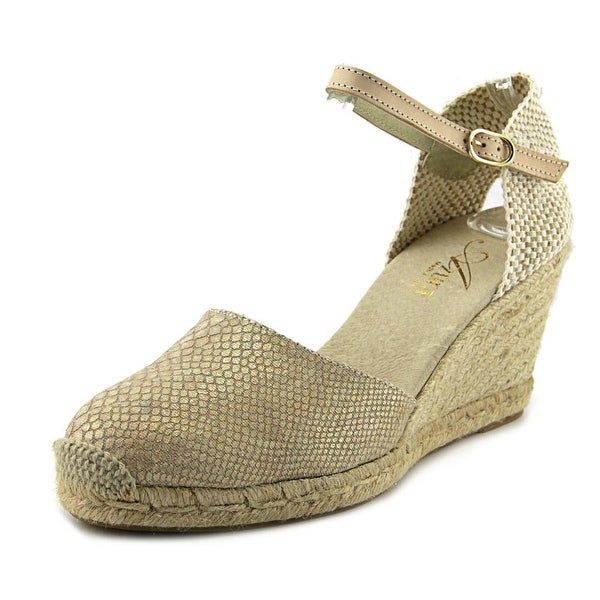 Azura Lenox Women Round Toe Canvas Tan Espadrille