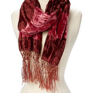 Link to Woman Burn Out Velvet Scarf With Tassels Holiday Season Gift Winter Fashion Accessories It Comes In Multiple Colors Similar Items in Scarves & Wraps