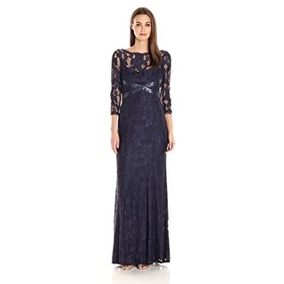 Link to Adrianna Papell Women's L/s Lace Gown with Beaded Detail Similar Items in Dresses