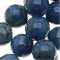Lapis Lazuli Blue Round Beads 8mm /15 Inch Strand - Thumbnail 0