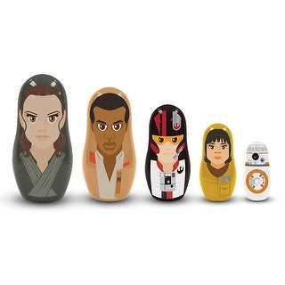Star Wars: The Last Jedi The Resistance 5-Piece Plastic Nesting Dolls - multi