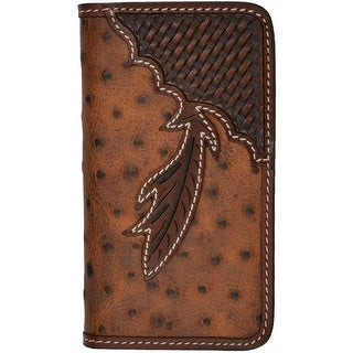 Tony Lama Cell Phone Case Leather iPhone 5/5s Ostrich Brown