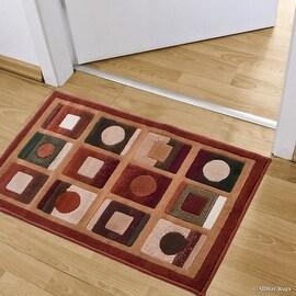 "Allstar Rust Doormat Accent Rug Modern Formal Area Rug (2' 0"" x 3' 3"")"