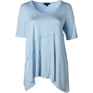 Karen Kane Womens Plus Jersey Solid Blouse