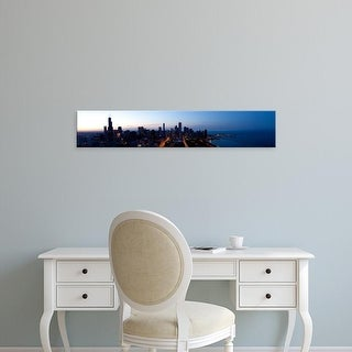 Easy Art Prints Panoramic Images's 'High angle view of a city at dusk, Chicago, Cook County, Illinois, USA' Canvas Art