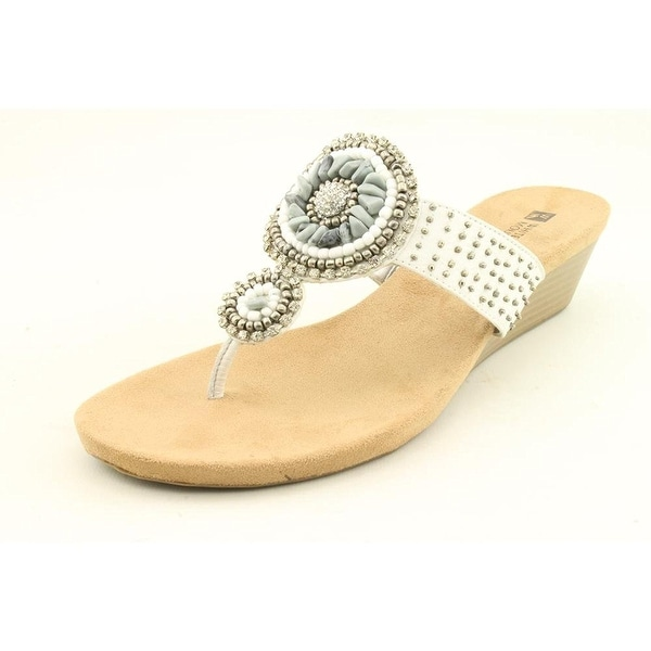 Shop White Mountain Womens Coolidge Leather Open Toe