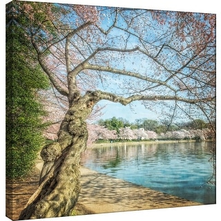 """PTM Images 9-101248  PTM Canvas Collection 12"""" x 12"""" - """"Cherry Blossoms 9"""" Giclee Forests Art Print on Canvas"""