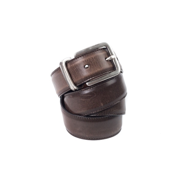 Brunello Cucinelli Chestnut Smooth Leather Faded-Effect Belt