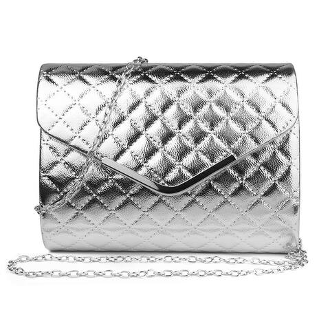 Women Handbag Elegant Quilted Clutch Crossbody Satchel Ladies Purse