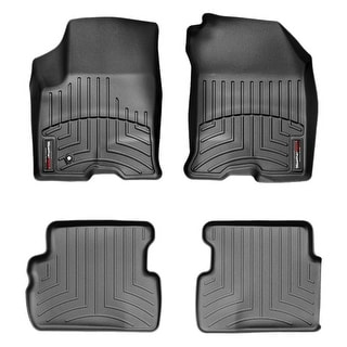 WeatherTech 44190-1-2 Black Front & Rear FloorLiner: Ford Focus 2008 - 2009