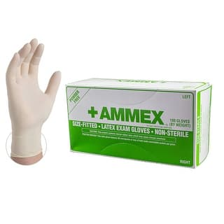 AMMEX Ivory Hand Specific Latex Exam Powder Free Disposable Gloves (Case of 1000)|https://ak1.ostkcdn.com/images/products/is/images/direct/66b619b76b04dabe662813384d152952843a84c7/AMMEX-APFLR-Ivory-Hand-Specific-Latex-Exam-Powder-Free-Disposable-Gloves-%28Box-of-50-pairs%29.jpg?impolicy=medium