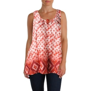 Beach Lunch Lounge Womens Printed Sleeveless Tank Top