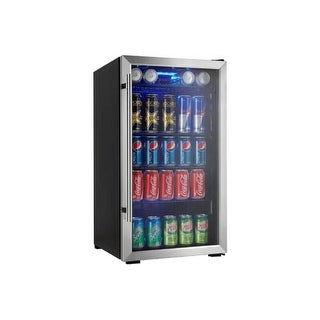Danby DBC93DD 18 Inch Wide 3.3 Cu. Ft. Capacity Beverage Center with 120 Can Cap