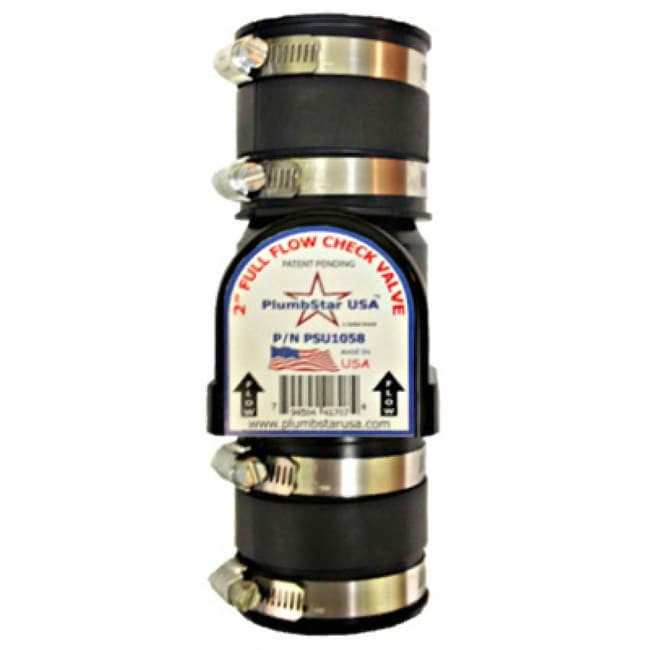PlumbStar PSU1058 Full-Flow Sewage Check Valve, 2