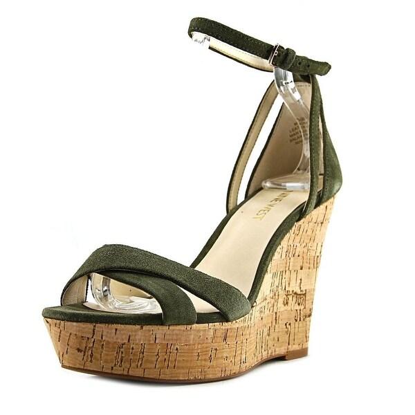 Nine West Joker Women Open Toe Synthetic Wedge Sandal
