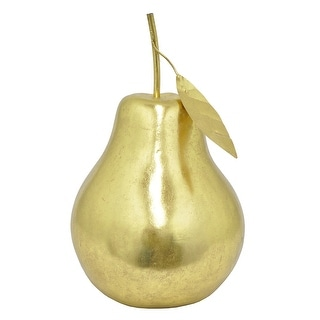 Three Hands Resin Pear - Gold