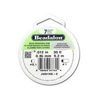 "Beadalon Bead Wire 7Strand .012"" Satin Silver 30'"