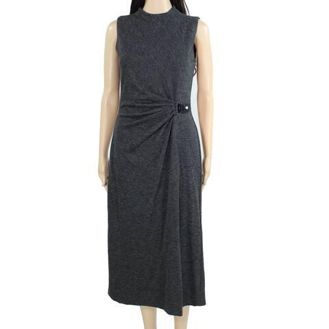 Lauren by Ralph Lauren Womens Dress Gray Size 18 Sheath Mock Belt Side