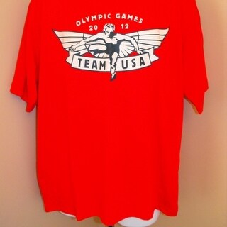 Mended- Team USA Olympics 2012 Youth Medium M (10/12) Red Shirt