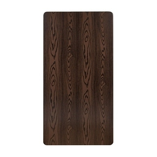 """Offex 30"""" x 60"""" Contemporary Rectangular Rustic Wood Laminate Table Top"""
