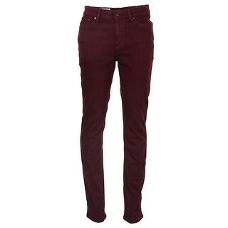 Lauren Ralph Lauren Wine Premier Straight Leg Curvy Fit Jeans