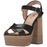 Shellys London Womens Lauren Leather Open Toe Casual Platform Sandals
