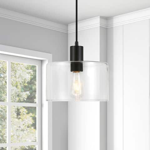 Henri Hand-Blown Metal/Glass Pendant (Optional Finishes)