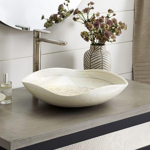 Lido Handmade Murano Glass Bathroom Sink - 14.75x14.75x4