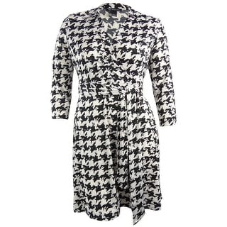 INC International Concepts Women's Houndstooth Belted Dress - xs
