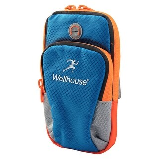 Wellhouse Authorized Jogging Phone Holder Adjustable Run Sports Arm Bag Blue M