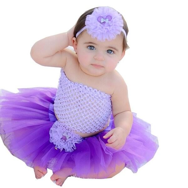 d5cf03556d Shop Girls Purple Lavender Tutu Skirt Headband Set 0-8Y - Free Shipping On  Orders Over $45 - Overstock - 18164339