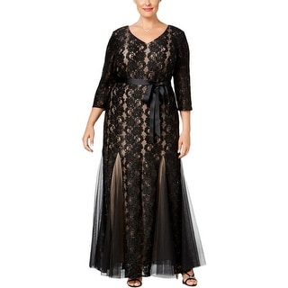 Alex Evenings Womens Formal Dress Lace Sequined