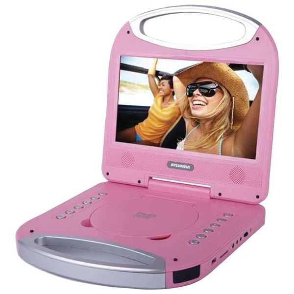 Sylvania 10 in. Portable DVD Player With Integrated Handle - Pink